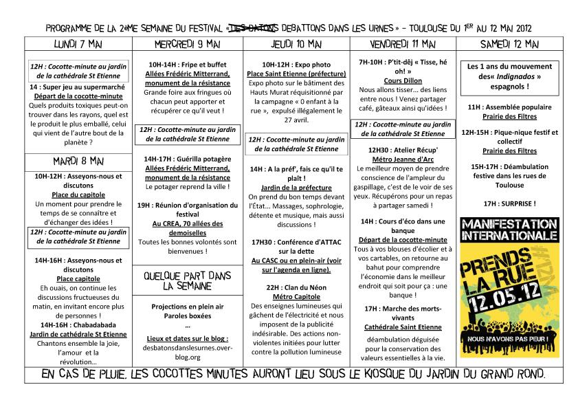 programme 2eme semaines Festival 2012